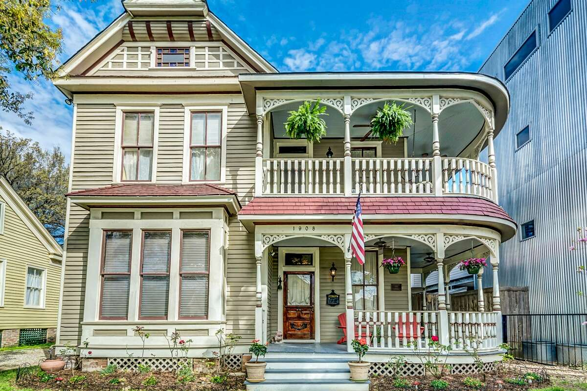 The home at 1908 Decatur Street in Houston is on the market for $750,000. Known as the Valentine house, it was built by Angeline Valentine in 1890.