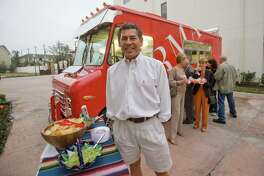 Armando Palacios is the owner of Armandos and of the taco truck. Armandos, an upscale Mexican restaurant in the River Oaks area has taken a taco truck and added top of the line appliances and an elegant paint job.   (Thursday, Oct. 16, 2008, in Houston. ( Steve Campbell / Houston Chronicle)
