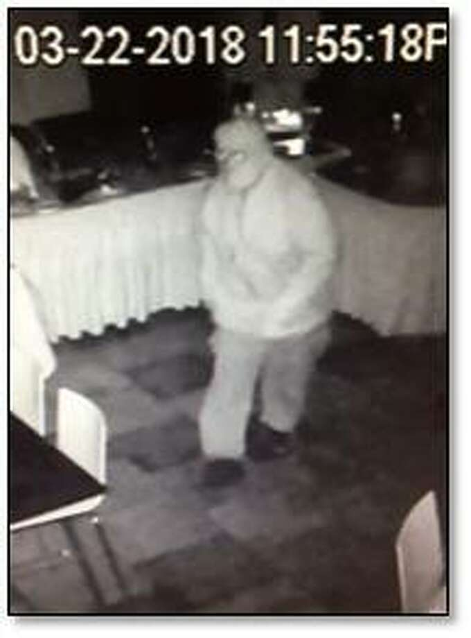 Fairfield police are looking for this man, who broke into Coromandel Restaurant early Thursday and made off with about $2,000 in cash. Fairfield,CT. 3/22/18 Photo: Contributed / Contributed Photo / Fairfield Citizen