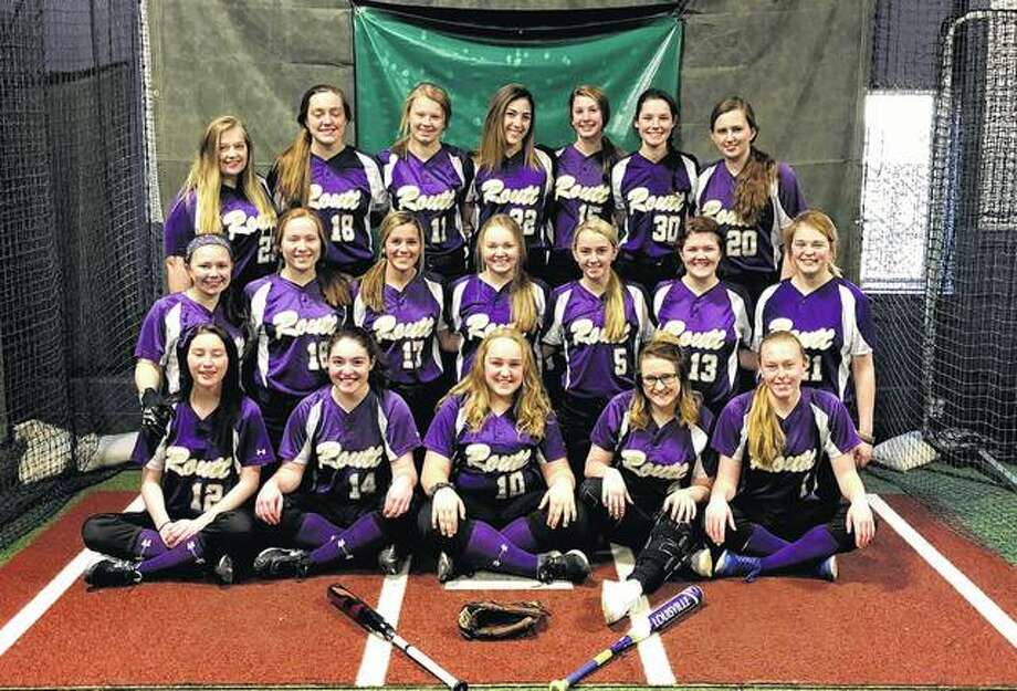 Routt — First row (l-r): Madison Lightfoot, Emily Cosgriff, Meadow Hawkins, Addie Parlier and Kirby Peters. Second row: Kalleigh Burke, Makenna Baptist, Chloe Wooldridge, Mallory Martin, Addie Schmidt, Mattie Dunnigan and Addy Beddingfield. Third row: Maddy Westerman, Bella McCartney, Ally Hicks, Bella Powell, Abby Lewis, Sydney Walker and Molly Schmidt.