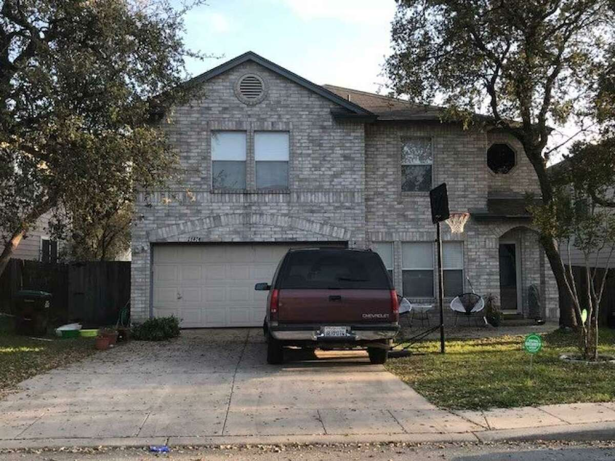 Bexar County Sheriff's Office deputies say 11 people were arrested Friday, March 16, 2018, at this residence and charged with cruelty to livestock animals in what the office called a possible animal sacrifice.