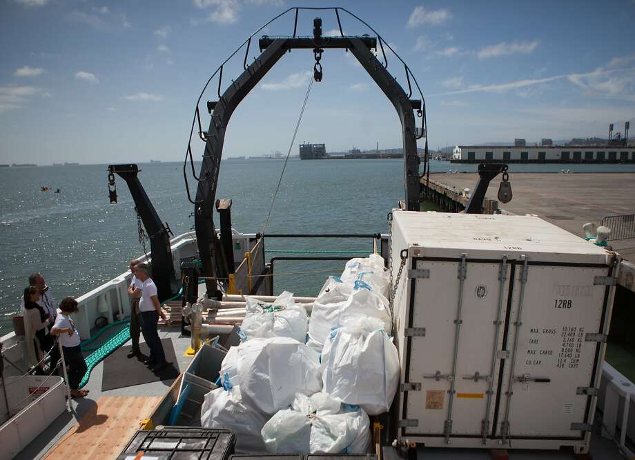 A sample of the garbage found in the Great Pacific Garbage Patch is stored on the Ocean Starr during the 30-day Mega Expedition.  Photographed on Sunday, Aug. 23, 2015 in San Francisco, Calif. Photo: Nathaniel Y. Downes, The Chronicle