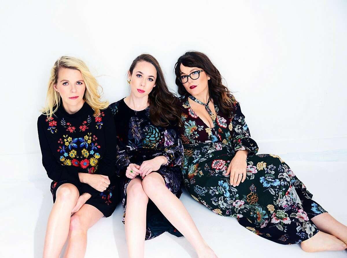 From left, Aoife O'Donovan,Sarah Jarosz andSara Watkins make up the trioI'm With Her.