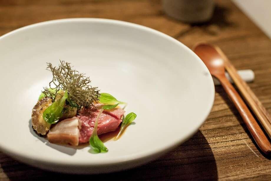 45-day aged abalone. Photo: Avery Restaurant