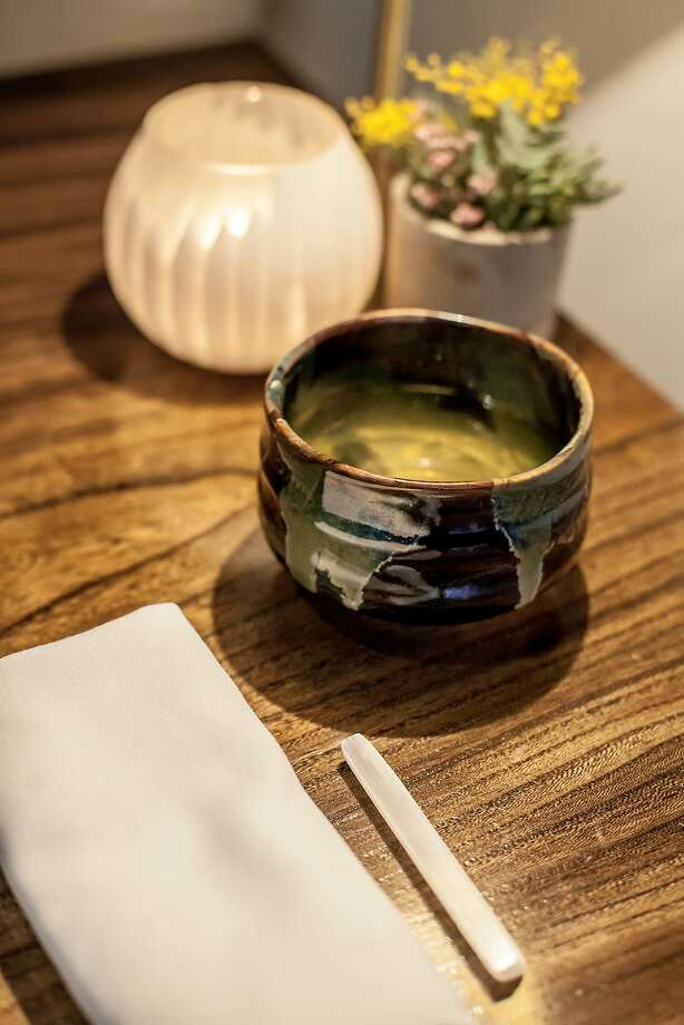 Broth of toasted grains and burnt onion butter. Photo: Avery Restaurant