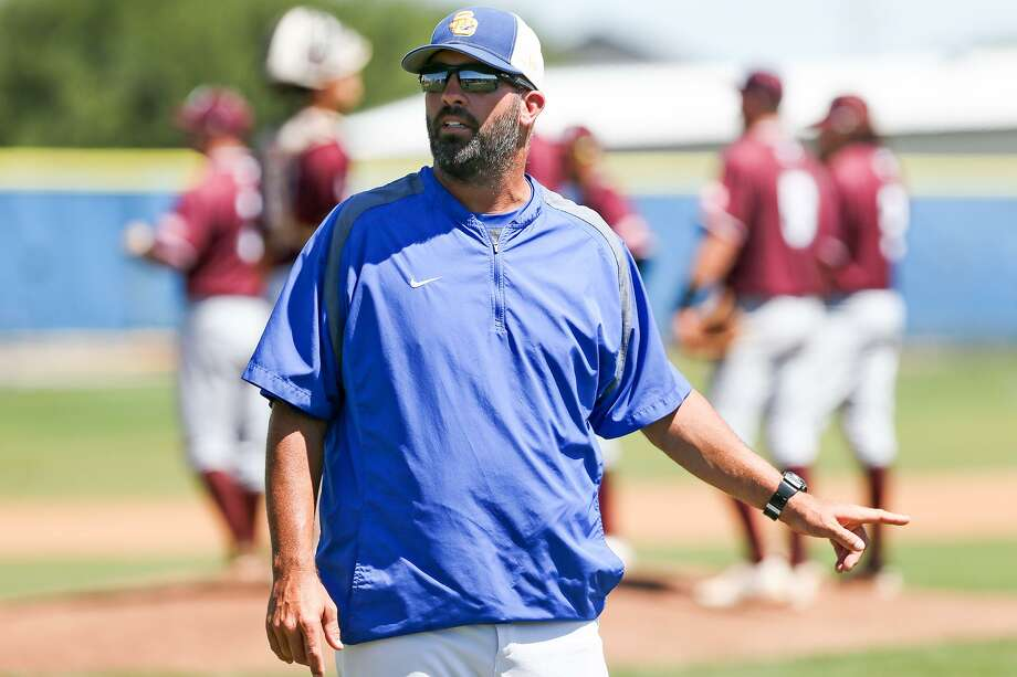 Clemens' coach Russell Doege on the field during Game 2 of their Class 6A bidistrict playoff series with Marshall at Clemens on Saturday, May 6, 2017.  MARVIN PFEIFFER/ mpfeiffer@express-news.net Photo: Marvin Pfeiffer, Staff / San Antonio Express-News / Express-News 2017