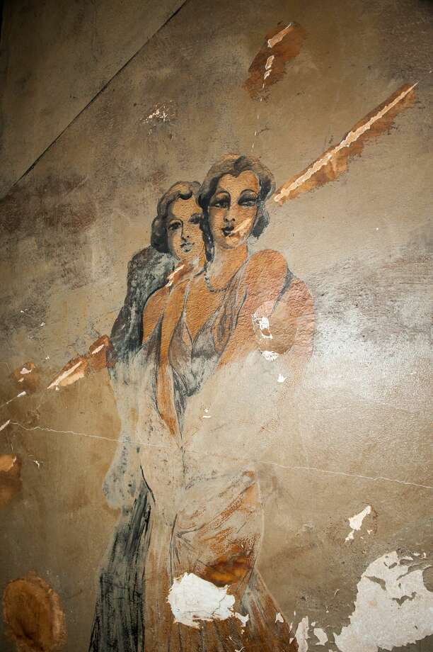 1920s Art Deco murals depicting African Americans in Prohibition era attire have bene uncovered during the renovation work at the Louisa Hotel. This is the only known historic jazz club with the original murals intact remaining in Seattle. Photo: Tanya Woo