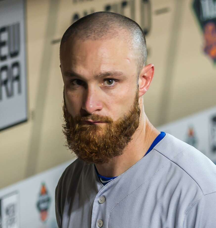 Catcher Jonathan Lucroy prepares in the dugout when he played for the Texas Rangers.Signed in March, Lucroy is a two-time All-Star with a solid reputation working with pitchers. Photo: Icon Sportswire / Icon Sportswire Via Getty Images / ©Icon Sportswire (A Division of XML Team Solutions) All Rights Reserved contact: info@iconsportswire.com http://iconsportswire.c