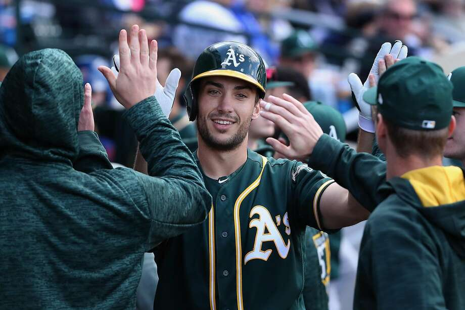 Matt Olson, who will be on a season-opening roster for the first time, swatted 24 homers in 59 games last season, including 20 over his final 41 games after being called up in August. Photo: Christian Petersen, Getty Images