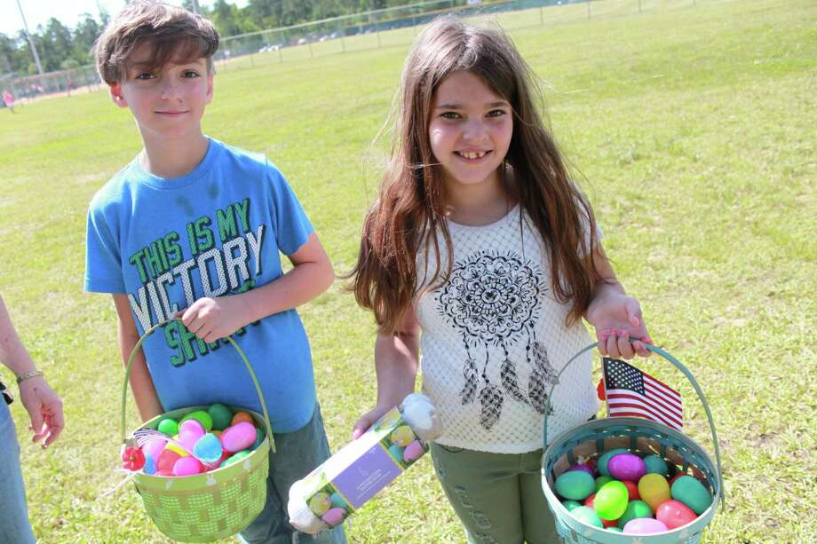 Hundreds of Conroe Kids came out to hunt 18,000 hidden eggs at Carl Barton Jr. Softball Fields in Conroe as part of the annual Morning with Mr. Bunny event hosted by the city of Conroe Parks and Recreation Department. Photo: Meagan Ellsworth