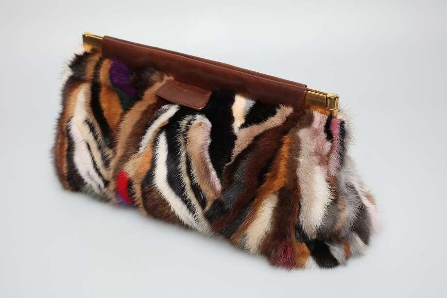 A multicolored fur handbag by Miu Miu. Photo: Juanito Garza / San Antonio Express-News