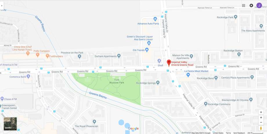 FILE - A screenshot of a Google Maps image of Imperial Valley Drive and Greens Road in Houston, Texas. Thursday, one person died following an officer-involved shooting in the area. Photo: File/Google