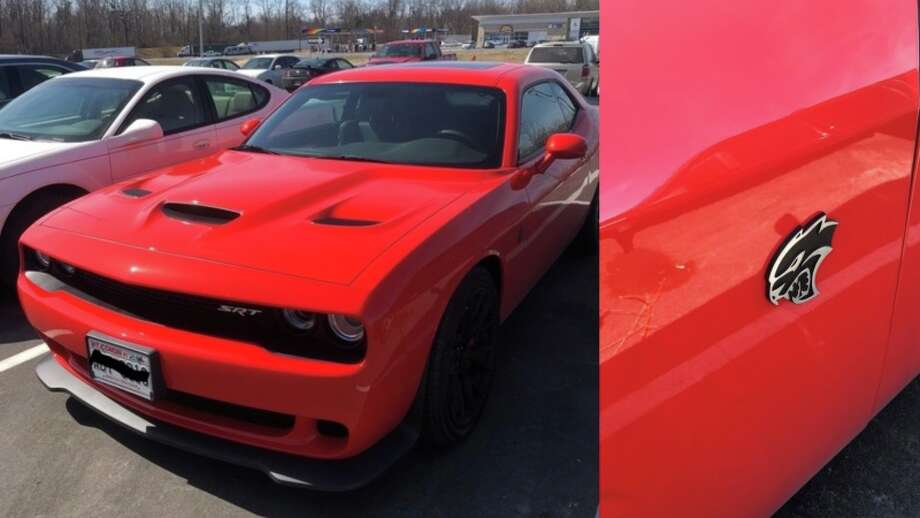 State police in Bremen, Ind., say this Dodge Challenger Hellcat was clocked at 160 mph Tuesday while trying to evade a pursuing officer on the Indiana State Toll Road. Photo: Indiana State Police