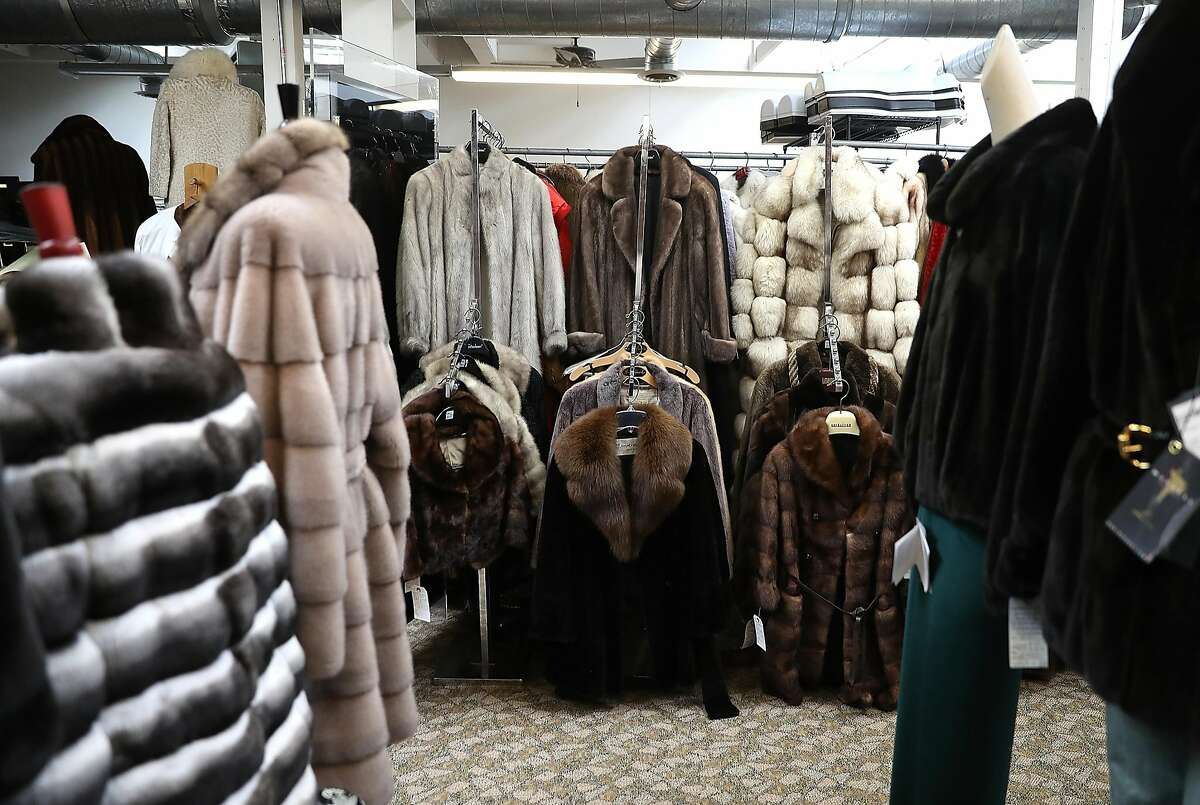 Used fur coats are displayed at B.B. Hawk on March 21, 2018 in San Francisco, California. San Francisco supervisors voted unanimously in March to ban the sale of fur to become the largest city in the United States to prohibit sales of new fur coats. The ban goes into effect on January 1, 2019. (Photo by Justin Sullivan/Getty Images)