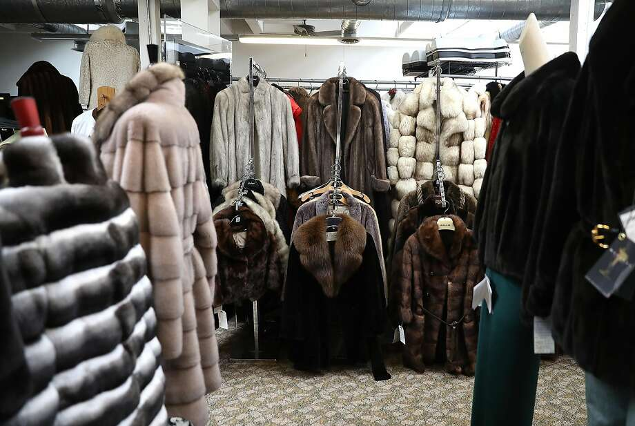 Used fur coats are displayed at B.B. Hawk in San Francisco. Photo: Justin Sullivan, Getty Images