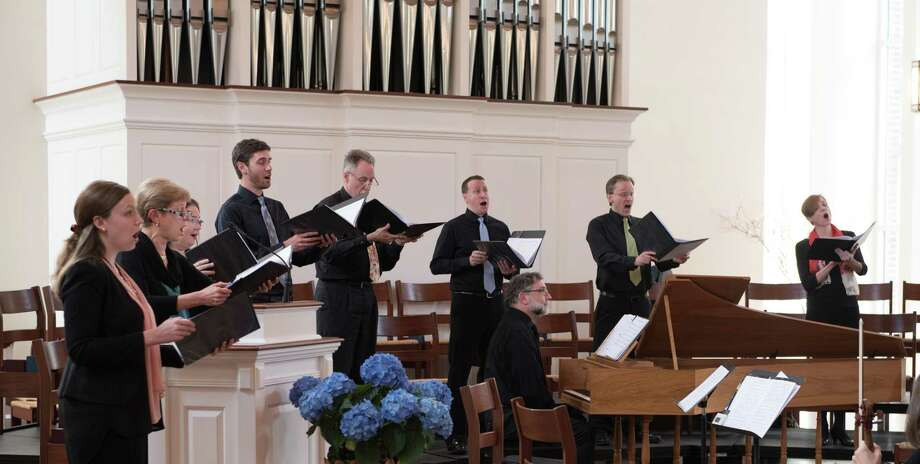 Music on the Hill Chamber Chorus with David H. Connell, harpsichord, in a spring 2017 concert at Wilton Presbyterian Church. Photo: Contributed Photo / Copyright Tracy Pennoyer203-536-9321