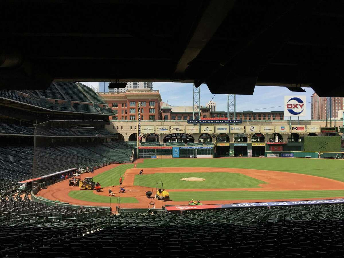 PHOTOS: The birth of Minute Maid Park Eighteen years ago this week Minute Maid Park (then Enron Field) opened up for Houston Astros baseball. See what the home of the Astros looked like two decades ago...