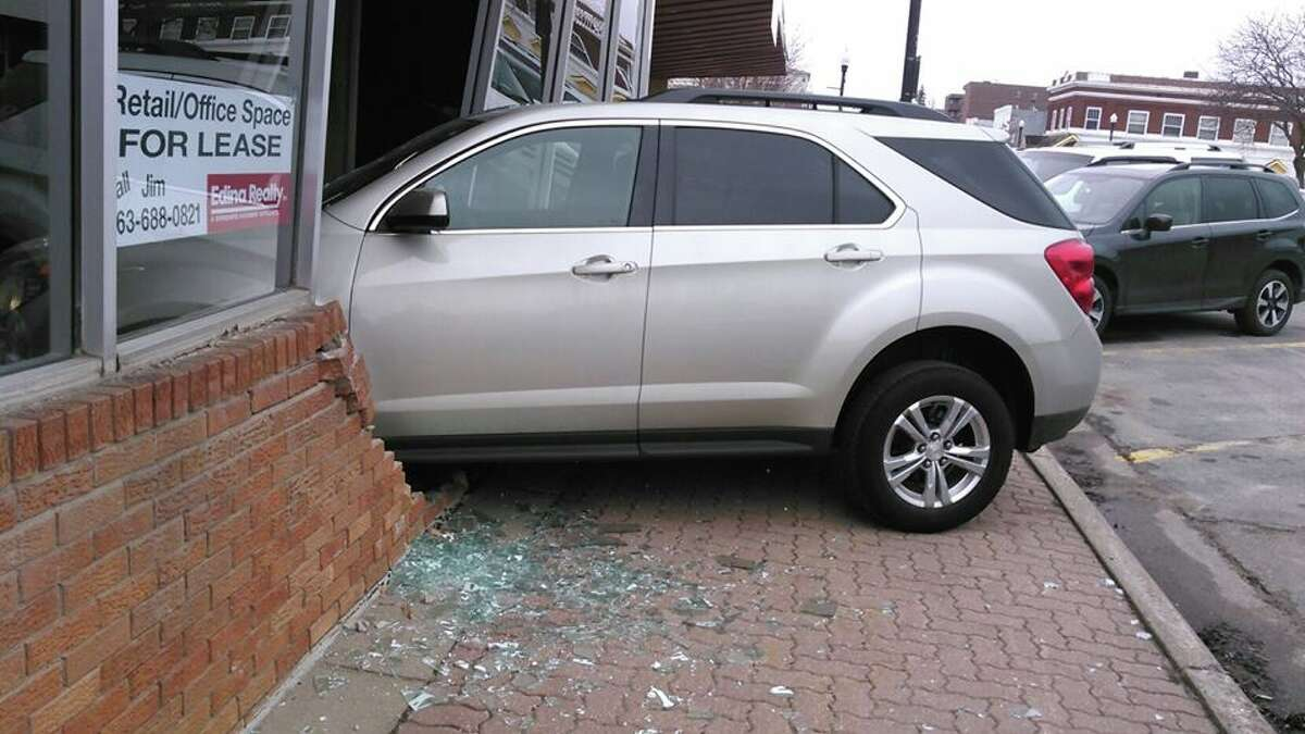 A 17-year-old from Buffalo, Minn. crashed a car into a building during her driver's license test Wednesday, Buffalo police said.