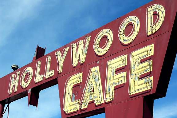 The vintage sign at the Hollywood Family Cafe in Lodi, a classic diner that opened in 1938 on Cherokee Lane when it had been the main highway.