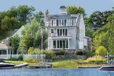 The house at 5 North Crossway in Old Greenwich has a touch of Nantucket in its bones. Expansive water views are a main attraction, as well as easy access to Long Island Sound.