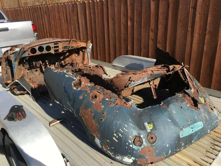 A Napa County Craigslist seller is seeking $5,356 for a rusty 1956 Porsche chassis. Photo: Craigslist