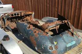 A Napa County Craigslist seller is seeking $5,356 for a rusty 1956 Porsche chassis.