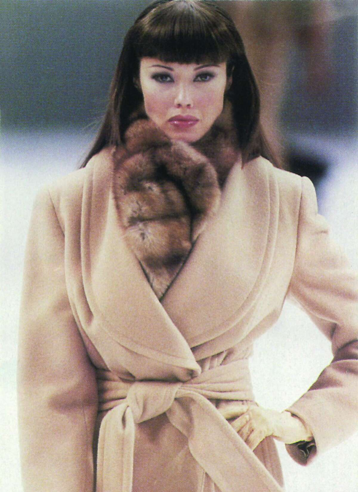 """An exhibition called """"Extending the Runway: Tatiana Sorokko Style"""" opens April 2 in Moscow's Russian Fashion Museum. Tatiana on the Gianfranco Ferre runway, in the early to mid 1990s."""