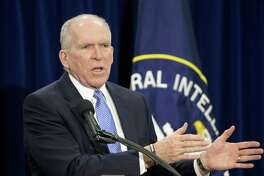"""Former Central Intelligence Director Director John Brennan, shown here in 2014, had this to say to the president after Trump fired Andrew McCabe at the FBI days before McCabe was eligible for a full pension: """"When the full extent of your venality, moral turpitude, and political corruption becomes known, you will take your rightful place as a disgraced demagogue in the dustbin of history. You may scapegoat Andy McCabe, but you will not destroy America ... America will triumph over you."""""""