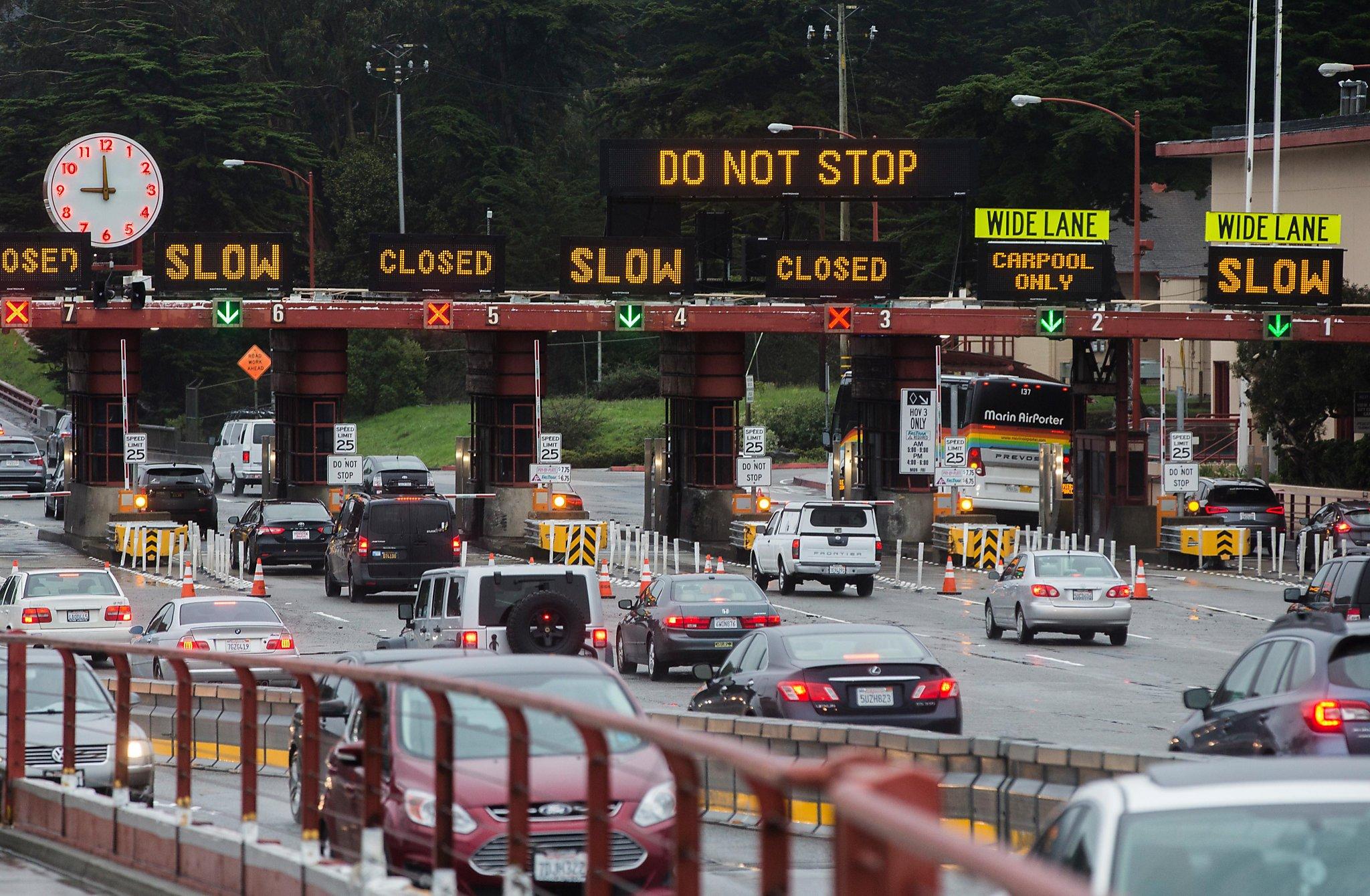 Multi-vehicle collision on northbound Golden Gate Bridge backs up
