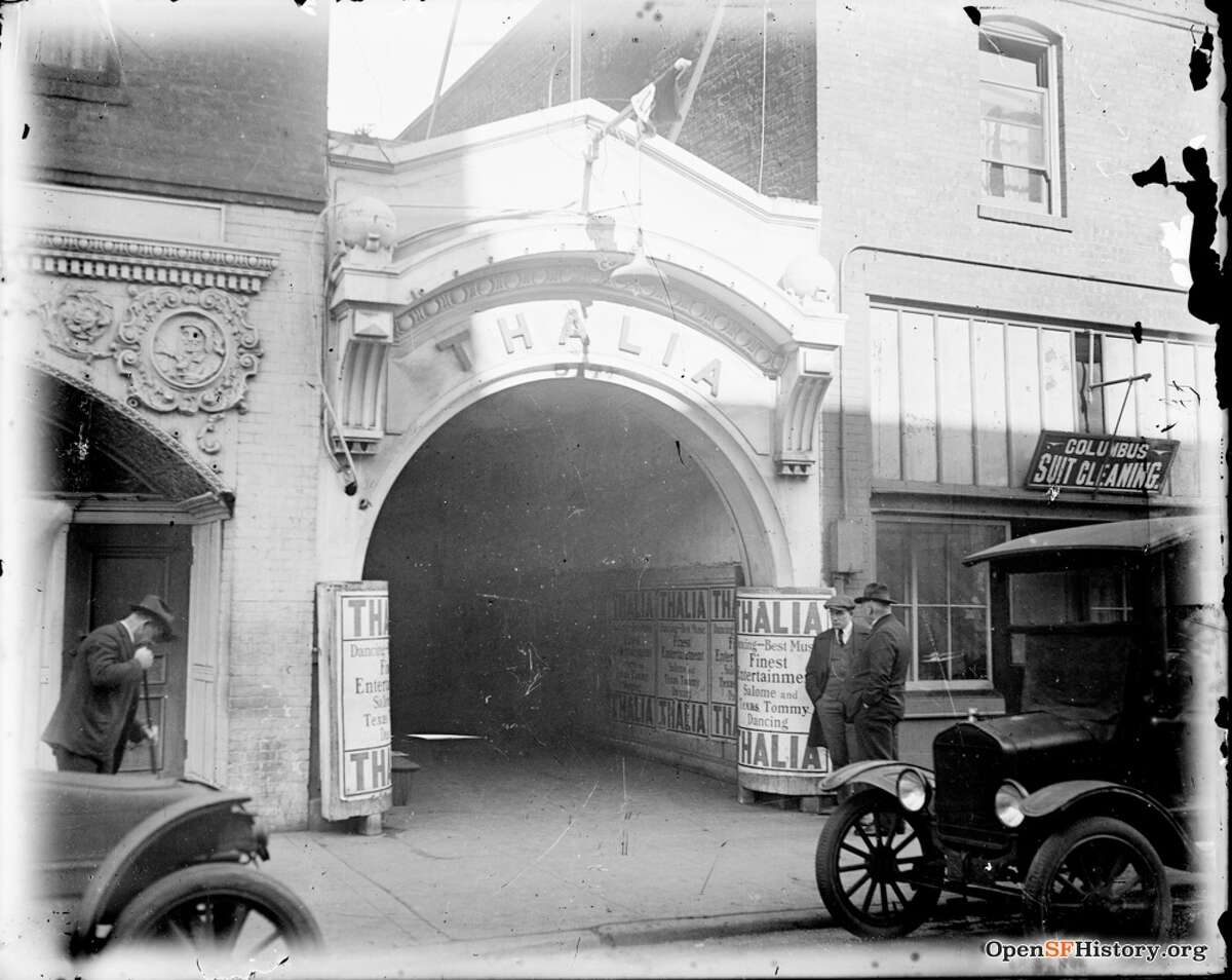 The Thalia dance hall on Pacific Street in San Francisco circa 1918. Pacific Street was, briefly, the city's top nightlife district.
