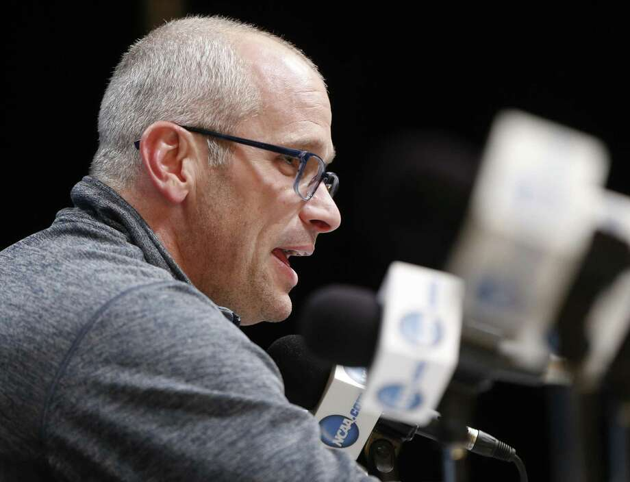 Rhode Island coach Dan Hurley takes questions during a news conference March 16 in Pittsburgh. Photo: Keith Srakocic / Associated Press / Copyright 2018 The Associated Press. All rights reserved.