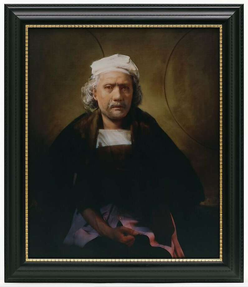 """Yasumasa Morimura depicts himsef as Rembrandt in """"Unfinished Self-Portrait 1660."""" Photo: San Francisco Museum Of Modern Art (c) Yasumasa Morimura, Special To The San Francisco Chronicle"""