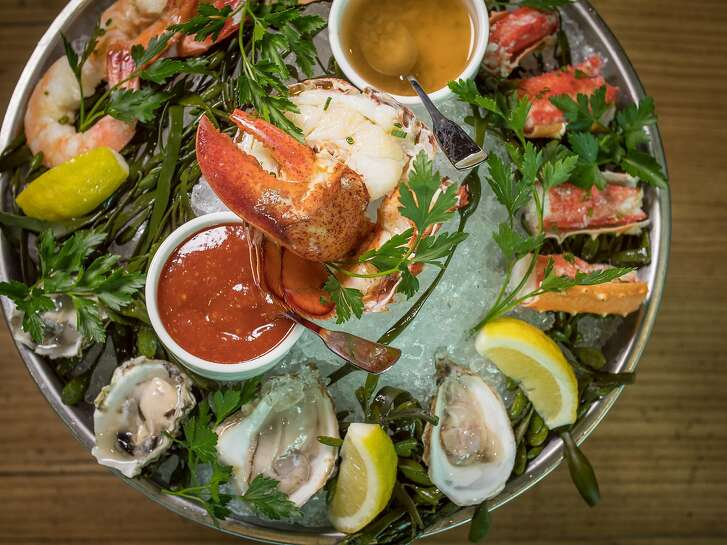 The Seafood Platter at Charlie Palmer Steak in Napa, Calif., is seen on March 17th, 2018.