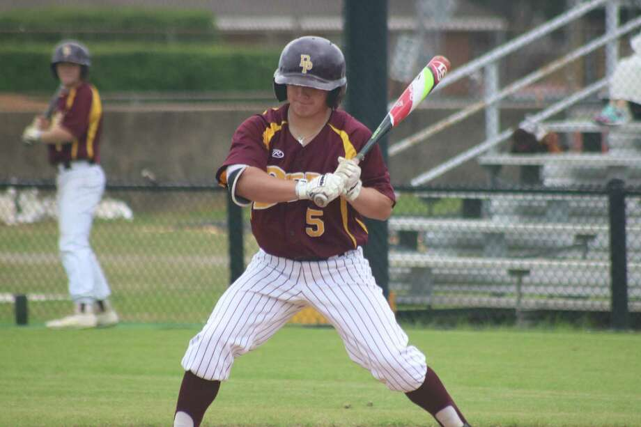 Blaine Holden will be trying to help set the table for the team's top RBI man in Blake Martin when Deer Park and La Porte collide with identical 3-0 district records Friday night at Kethan Field. Photo: Robert Avery