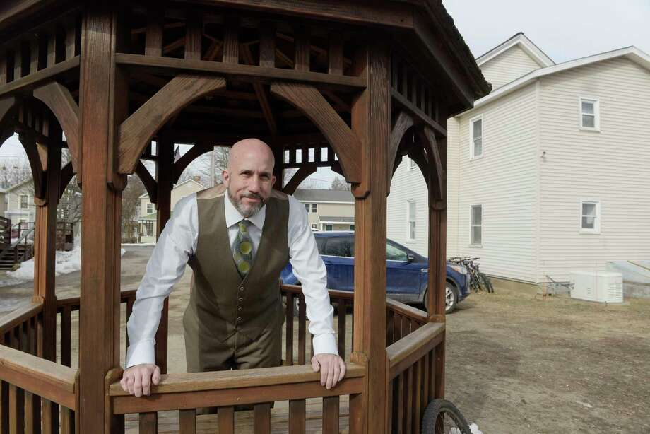 Mike Finocchi, the former executive director of Shelters of Saratoga, stands in the area on the organization's property where the proposed Code Blue project would be built, on Thursday, March 22, 2018, in Saratoga Springs, N.Y. (Paul Buckowski/Times Union) Photo: PAUL BUCKOWSKI / (Paul Buckowski/Times Union)