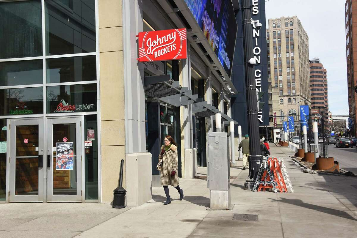 The former Johnny Rockets space at Times Union Center has been temporarily opened as the Backstage Bar during the month of March.