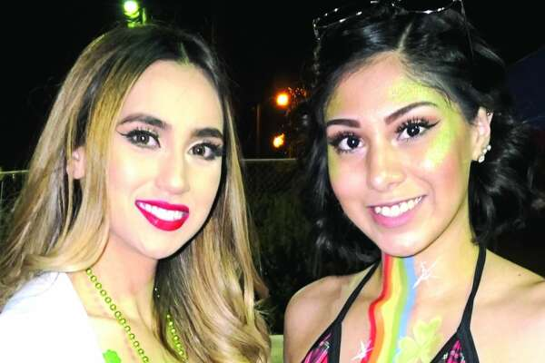 Kristina Benz and Alexis Lopez at Tilted Kilt Pub & Eatery  Friday, March 23, 2018