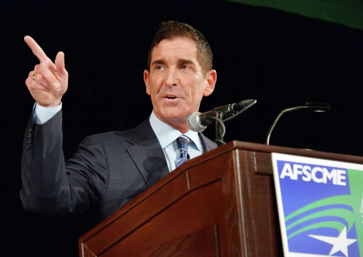 NYS Senate IDC Leader Jeff Klein speaks at New York AFSCME's annual Albany Lobby Day lunch Tuesday, March 4, 2014, at the Empire State Convention in Albany, N.Y. (John Carl D'Annibale / Times Union)