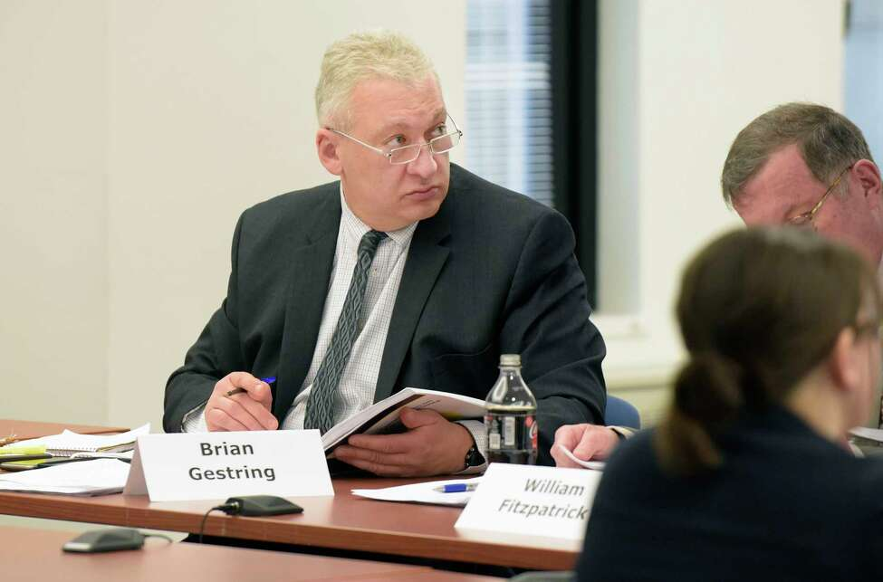 Brian Gestring, director of Forensic Science Office for DCJS, and a members of the New York State Forensic Science Commission, takes part in a commission meeting on Wednesday, March 21, 2018, in Albany, N.Y. (Paul Buckowski/Times Union)