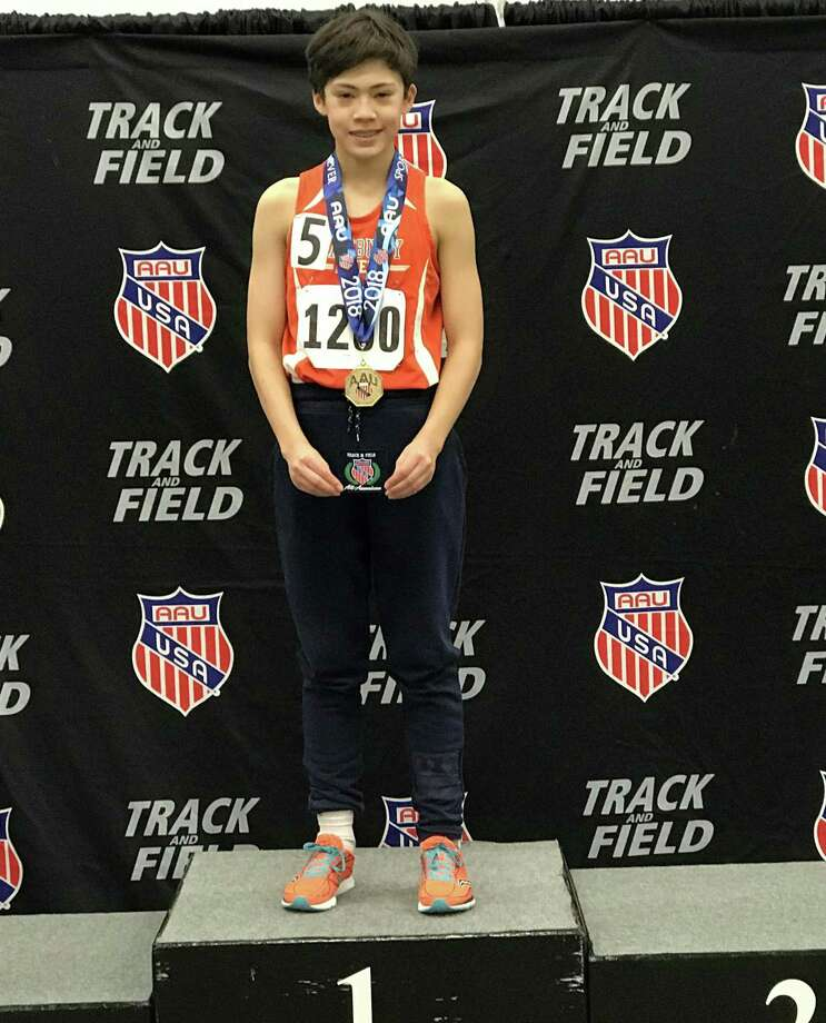 12-year-old Max Coisman won the 3,000-meter racewalk at the AAU National Championships, held last weekend in Landover, Maryland. Photo: Contributed Photo