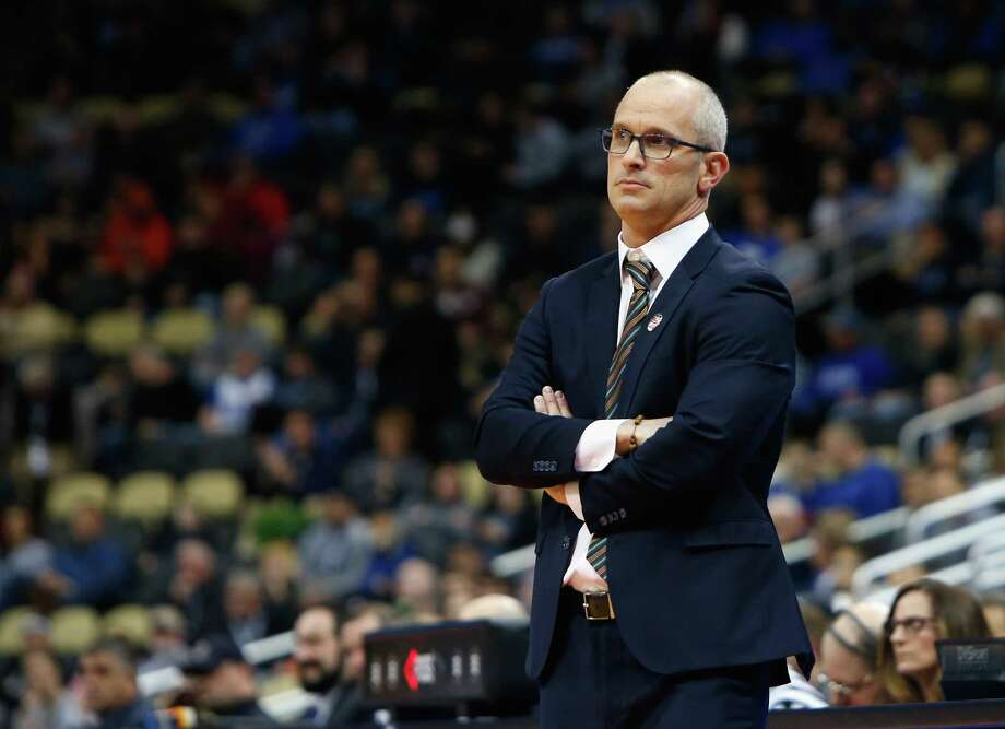 PITTSBURGH, PA - MARCH 15:  Head coach Dan Hurley of the Rhode Island Rams watches his team in the first half of the game against the Oklahoma Sooners during the first round of the 2018 NCAA Men's Basketball Tournament at PPG PAINTS Arena on March 15, 2018 in Pittsburgh, Pennsylvania.  (Photo by Justin K. Aller/Getty Images) Photo: Justin K. Aller / 2018 Getty Images