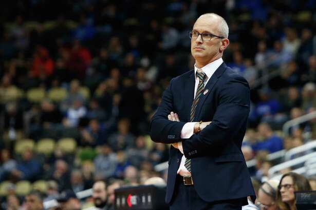 PITTSBURGH, PA - MARCH 15:  Head coach Dan Hurley of the Rhode Island Rams watches his team in the first half of the game against the Oklahoma Sooners during the first round of the 2018 NCAA Men's Basketball Tournament at PPG PAINTS Arena on March 15, 2018 in Pittsburgh, Pennsylvania.  (Photo by Justin K. Aller/Getty Images)