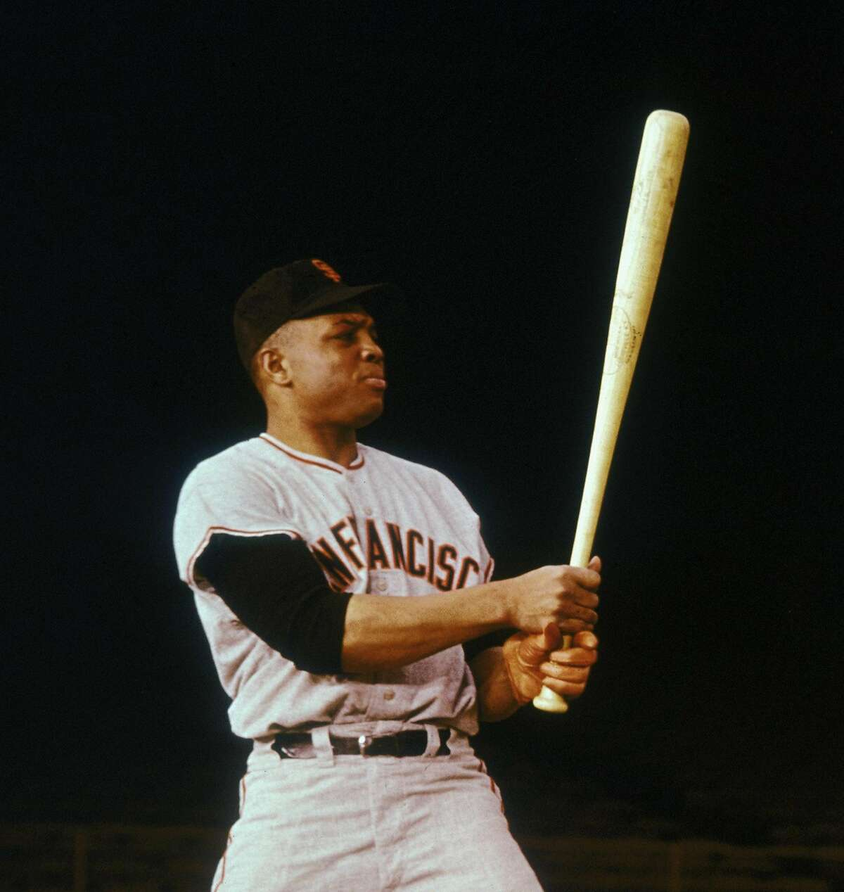 American baseball player Willie Mays of the San Francisco Giants, circa 1965. ~~