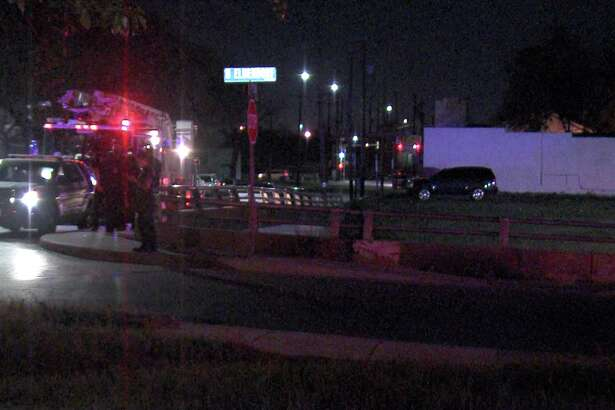 A man jumped off a West Side bridge Thursday night after police discovered he was wanted on a traffic warrant.