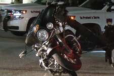 A motorcyclist died Thursday night, March 22, 2018, when he lost control and crashed on the West Sam Houston Parkway and Fallbrook.