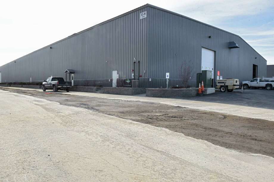 Exterior of the building where PalliaTech NY, a medical marijuana manufacturer, will be operating their business at the Coeymans Industrial Park on Thursday, March 22, 2018 in Ravena, N.Y. They expect to open this summer. (Lori Van Buren/Times Union) Photo: Lori Van Buren, Albany Times Union / 20043292A