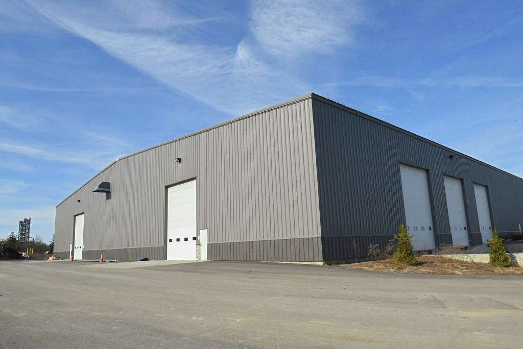 Exterior of the building where PalliaTech NY, a medical marijuana manufacturer, will be operating their business at the Coeymans Industrial Park on Thursday, March 22, 2018 in Ravena, N.Y. They expect to open