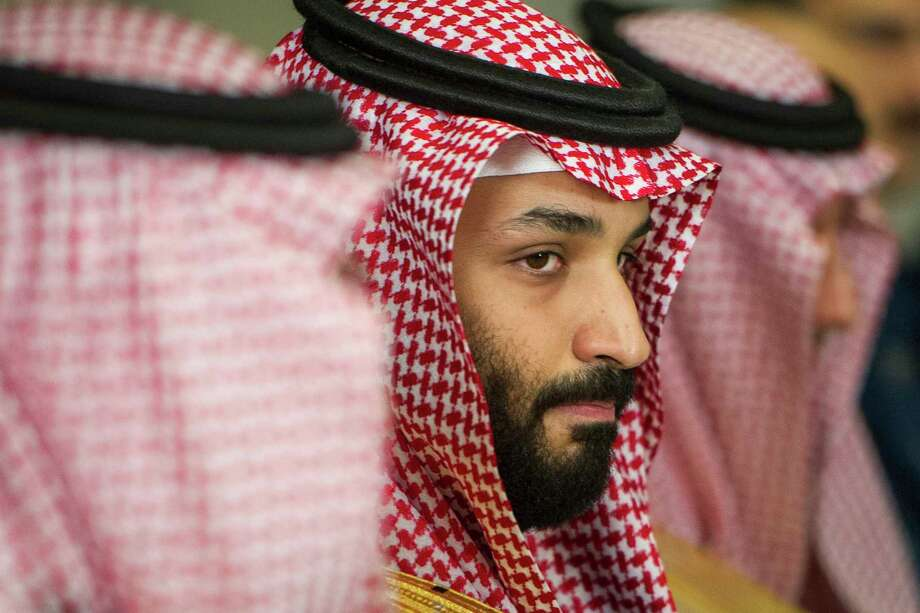 Saudi Crown Prince Mohammed bin Salman meets with Defense Secretary Jim Mattis at the Pentagon in Washington, Thursday, March 22, 2018. (AP Photo/Cliff Owen) Photo: Cliff Owen, FRE / FR170079 AP