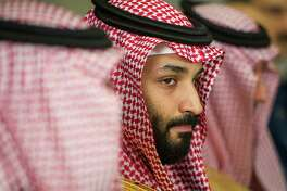 Saudi Crown Prince Mohammed bin Salman meets with Defense Secretary Jim Mattis at the Pentagon in Washington, Thursday, March 22, 2018. (AP Photo/Cliff Owen)