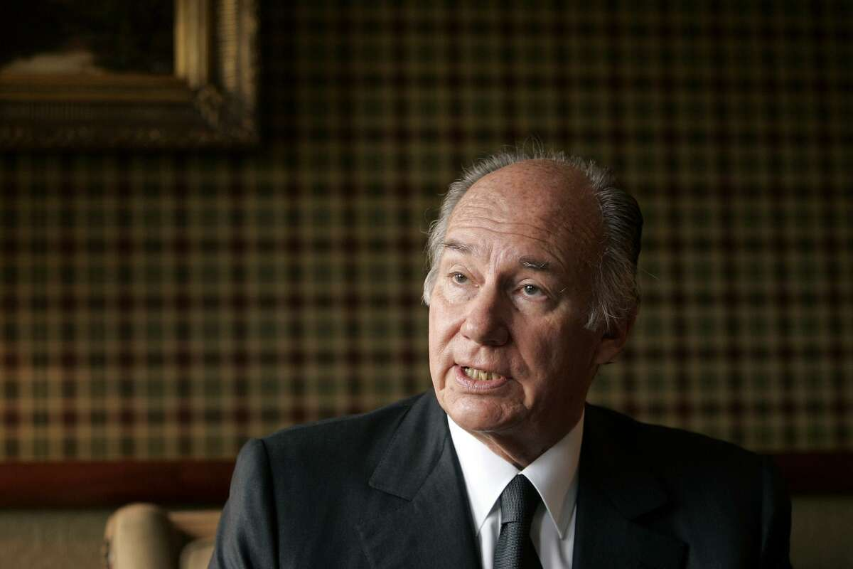 His Highness Prince Karim Aga Khan IV, the 49th Imam of the Ismaili Muslims, speaks during an interview with Bloomberg News in Edinburgh, Scotland on Wednesday, October 5, 2005. The 68-year-old spiritual leader received the Andrew Carnegie Medal of Philanthropy on Oct, 4, 2005. The Aga Khan Fund for Economic Development manages a $1.5 billion portfolio of companies ranging from Afghan mobile phone company Roshan to Kenyan publisher Nation Media Group.